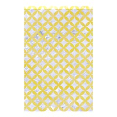 Circles3 White Marble & Yellow Watercolor (r) Shower Curtain 48  X 72  (small)  by trendistuff