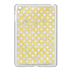 Circles3 White Marble & Yellow Watercolor (r) Apple Ipad Mini Case (white) by trendistuff
