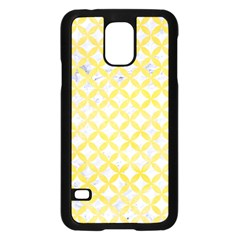 Circles3 White Marble & Yellow Watercolor (r) Samsung Galaxy S5 Case (black) by trendistuff