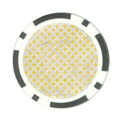 Circles3 White Marble & Yellow Watercolor Poker Chip Card Guard (10 Pack) by trendistuff