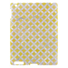 Circles3 White Marble & Yellow Watercolor Apple Ipad 3/4 Hardshell Case by trendistuff