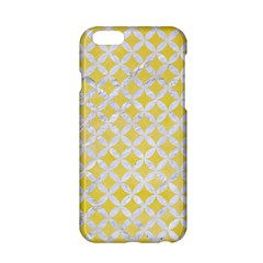 Circles3 White Marble & Yellow Watercolor Apple Iphone 6/6s Hardshell Case by trendistuff