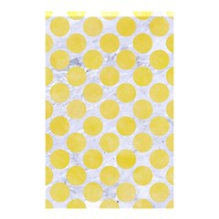 Circles2 White Marble & Yellow Watercolor (r) Shower Curtain 48  X 72  (small)  by trendistuff