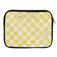 Circles2 White Marble & Yellow Watercolor (r) Apple Ipad 2/3/4 Zipper Cases by trendistuff