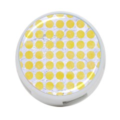 Circles1 White Marble & Yellow Watercolor (r) 4 Port Usb Hub (one Side) by trendistuff