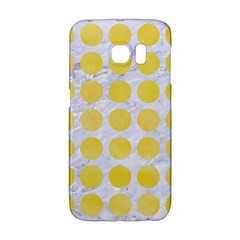 Circles1 White Marble & Yellow Watercolor (r) Galaxy S6 Edge by trendistuff