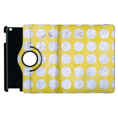 Circles1 White Marble & Yellow Watercolor Apple Ipad 3/4 Flip 360 Case by trendistuff
