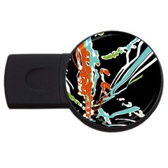Multicolor Abstract Design Usb Flash Drive Round (4 Gb) by dflcprints