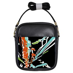 Multicolor Abstract Design Girls Sling Bags by dflcprints