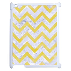 Chevron9 White Marble & Yellow Watercolor (r) Apple Ipad 2 Case (white) by trendistuff