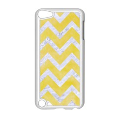 Chevron9 White Marble & Yellow Watercolor Apple Ipod Touch 5 Case (white) by trendistuff