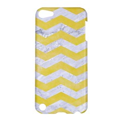Chevron3 White Marble & Yellow Watercolor Apple Ipod Touch 5 Hardshell Case by trendistuff