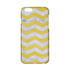 Chevron3 White Marble & Yellow Watercolor Apple Iphone 6/6s Hardshell Case by trendistuff