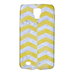 Chevron2 White Marble & Yellow Watercolor Galaxy S4 Active by trendistuff