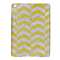 Chevron2 White Marble & Yellow Watercolor Ipad Air 2 Hardshell Cases by trendistuff