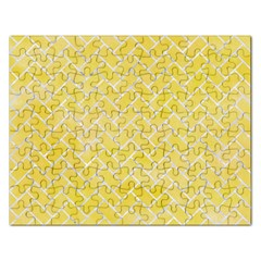 Brick2 White Marble & Yellow Watercolor Rectangular Jigsaw Puzzl by trendistuff