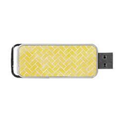 Brick2 White Marble & Yellow Watercolor Portable Usb Flash (two Sides) by trendistuff