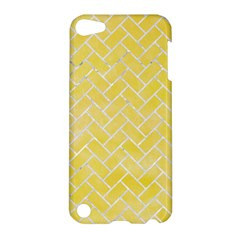 Brick2 White Marble & Yellow Watercolor Apple Ipod Touch 5 Hardshell Case by trendistuff