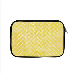 Brick2 White Marble & Yellow Watercolor Apple Macbook Pro 15  Zipper Case by trendistuff