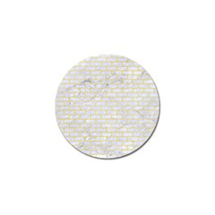Brick1 White Marble & Yellow Watercolor (r) Golf Ball Marker (10 Pack) by trendistuff