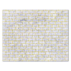 Brick1 White Marble & Yellow Watercolor (r) Rectangular Jigsaw Puzzl by trendistuff