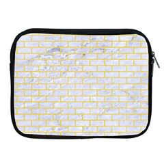 Brick1 White Marble & Yellow Watercolor (r) Apple Ipad 2/3/4 Zipper Cases by trendistuff