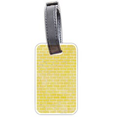 Brick1 White Marble & Yellow Watercolor Luggage Tags (two Sides) by trendistuff