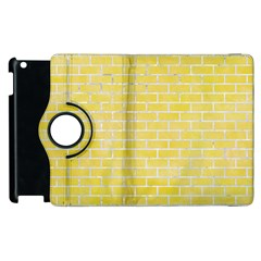 Brick1 White Marble & Yellow Watercolor Apple Ipad 3/4 Flip 360 Case by trendistuff