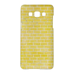 Brick1 White Marble & Yellow Watercolor Samsung Galaxy A5 Hardshell Case  by trendistuff