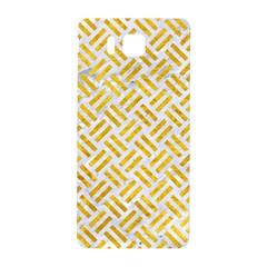 Woven2 White Marble & Yellow Marble (r) Samsung Galaxy Alpha Hardshell Back Case by trendistuff