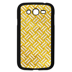 Woven2 White Marble & Yellow Marble Samsung Galaxy Grand Duos I9082 Case (black) by trendistuff