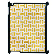 Woven1 White Marble & Yellow Marble (r) Apple Ipad 2 Case (black) by trendistuff