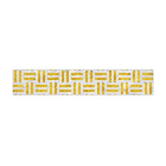 Woven1 White Marble & Yellow Marble (r) Flano Scarf (mini) by trendistuff