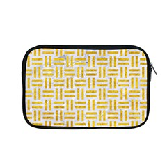 Woven1 White Marble & Yellow Marble (r) Apple Macbook Pro 13  Zipper Case by trendistuff