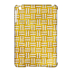 Woven1 White Marble & Yellow Marble Apple Ipad Mini Hardshell Case (compatible With Smart Cover) by trendistuff