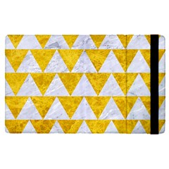 Triangle2 White Marble & Yellow Marble Apple Ipad Pro 9 7   Flip Case