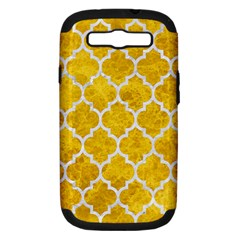 Tile1 White Marble & Yellow Marble Samsung Galaxy S Iii Hardshell Case (pc+silicone) by trendistuff