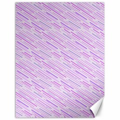 Silly Stripes Lilac Canvas 12  X 16   by snowwhitegirl