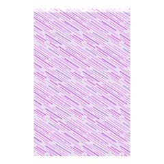 Silly Stripes Lilac Shower Curtain 48  X 72  (small)  by snowwhitegirl