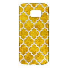 Tile1 White Marble & Yellow Marble Samsung Galaxy S7 Edge Hardshell Case