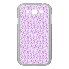 Silly Stripes Lilac Samsung Galaxy Grand Duos I9082 Case (white) by snowwhitegirl