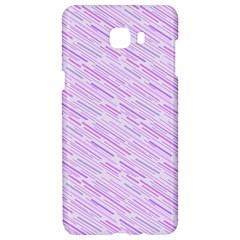 Silly Stripes Lilac Samsung C9 Pro Hardshell Case  by snowwhitegirl
