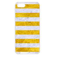 Stripes2white Marble & Yellow Marble Apple Iphone 5 Seamless Case (white) by trendistuff