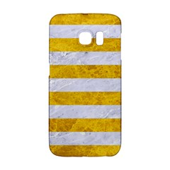 Stripes2white Marble & Yellow Marble Galaxy S6 Edge by trendistuff
