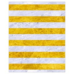 Stripes2white Marble & Yellow Marble Drawstring Bag (small) by trendistuff