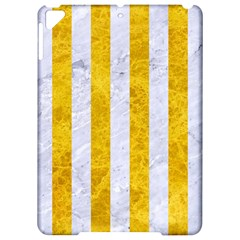 Stripes1 White Marble & Yellow Marble Apple Ipad Pro 9 7   Hardshell Case by trendistuff