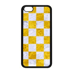 Square1 White Marble & Yellow Marble Apple Iphone 5c Seamless Case (black) by trendistuff