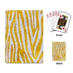 Skin4 White Marble & Yellow Marble (r) Playing Card by trendistuff