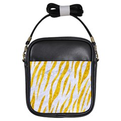 Skin3 White Marble & Yellow Marble (r) Girls Sling Bags by trendistuff