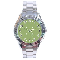 Olive Dots Stainless Steel Analogue Watch by snowwhitegirl